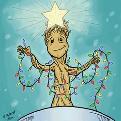 Baby Groot-mas tree. by abouelse
