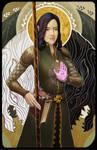 Dragon Age Elf Mage Tarot Illustration