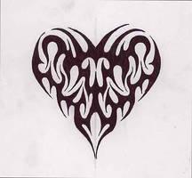 Heart tribal by jakofheartz5870