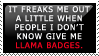 Llama Badges Stamp by PoisonTonicLX