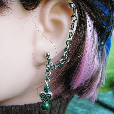 Celtic Heart Cartilage Earring by merigreenleaf