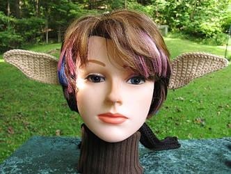 Crocheted Elf Ears by merigreenleaf