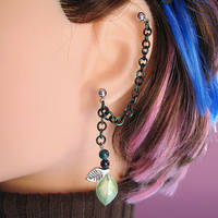 Leaves of the Woodland Earring by merigreenleaf