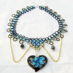 Flower Chainmaille Necklace