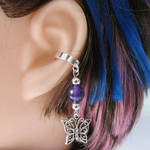 Purple Butterly Ear Cuff