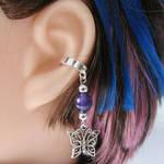 Purple Butterly Ear Cuff