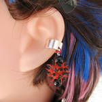Red and Black Spike Earring