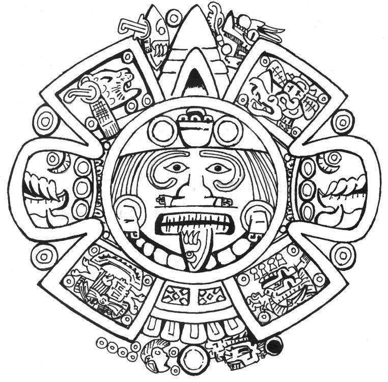 Calendar Design Drawing : Azteca by edgedrg on deviantart