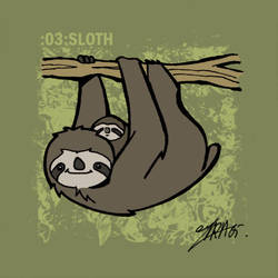 animals 03: sloth by lllaria