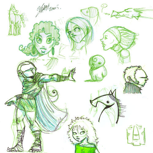 sketchbook scan XIV by lllaria