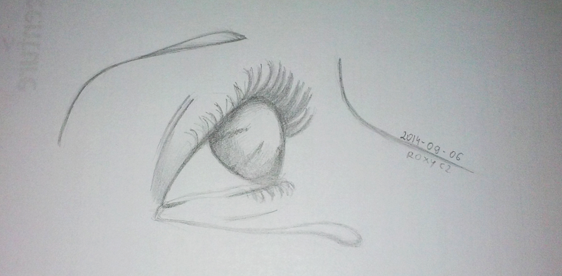 crying woman's eye by rokicza
