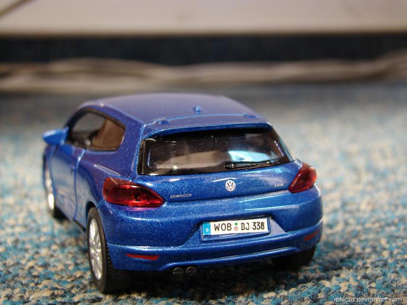 Blue Volkswagen Scirocco by rokicza