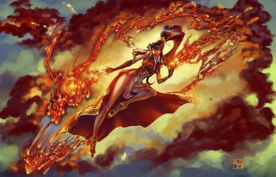 Briju the Firebender [Commission]