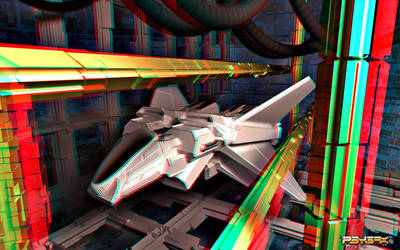 O3on3 AtmosphericEntryVehicle anaglyph render