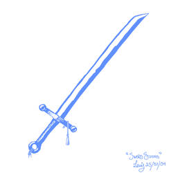 Sword Etching by littleweseth