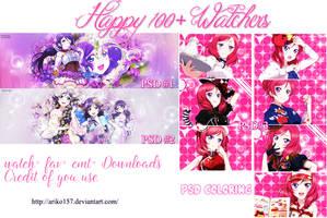 Happy 100+ Watchers by Ariko157