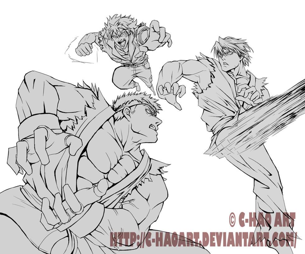 Street Fighter X Toriko (Lineart) By Mystery79 On DeviantArt