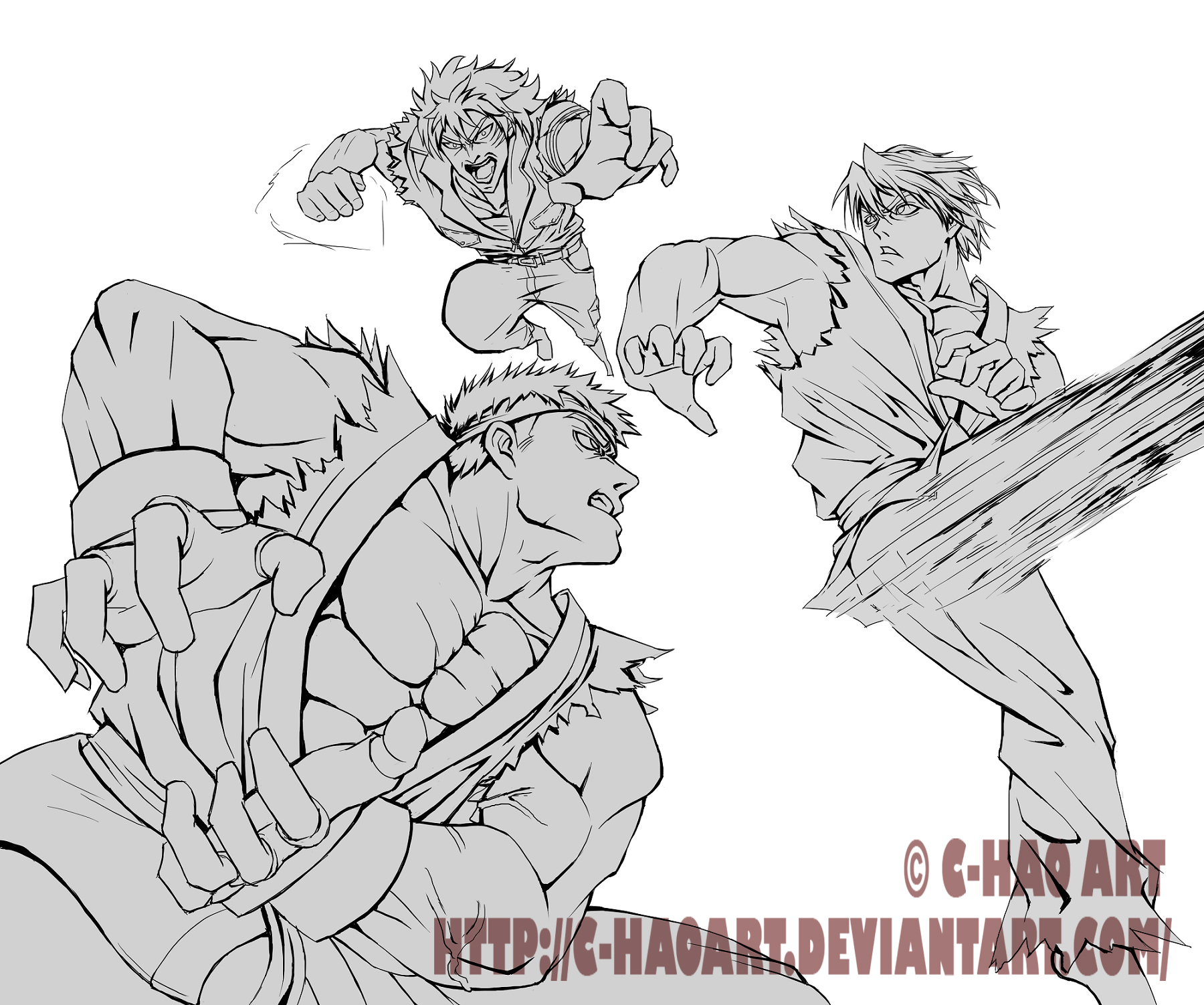 Street Fighter X Toriko (Lineart) By Mystery79 On DeviantArt