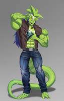 Basford - Muscled Terran Reptoid by mystery79