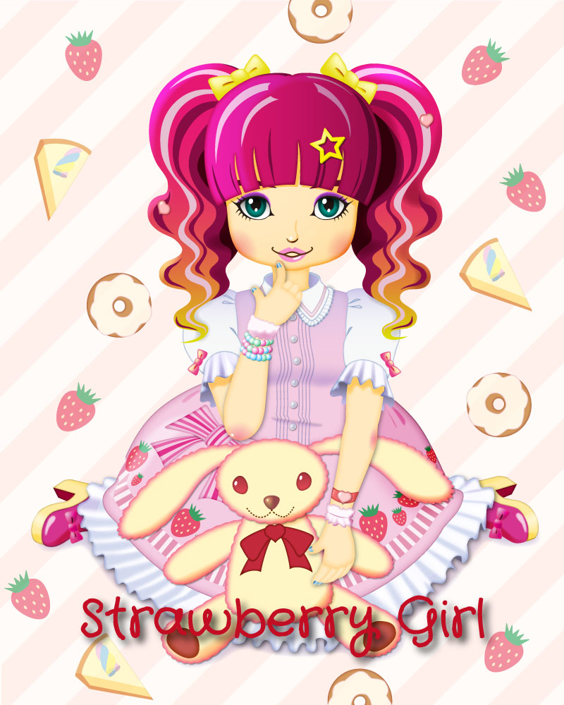 Strawberry Girl by Blue-Jay-LisseTulips on DeviantArt