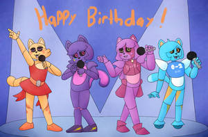 A bunch of cool cats rock out by QuantumMirage