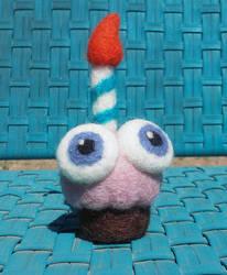 Fnaf Needlefelt Cupcake by QuantumMirage