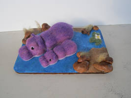Needlefelted Hippo Family