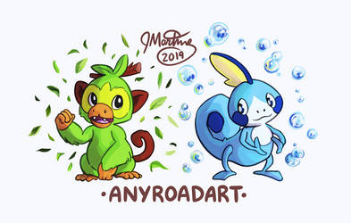 Grookey and Sobble