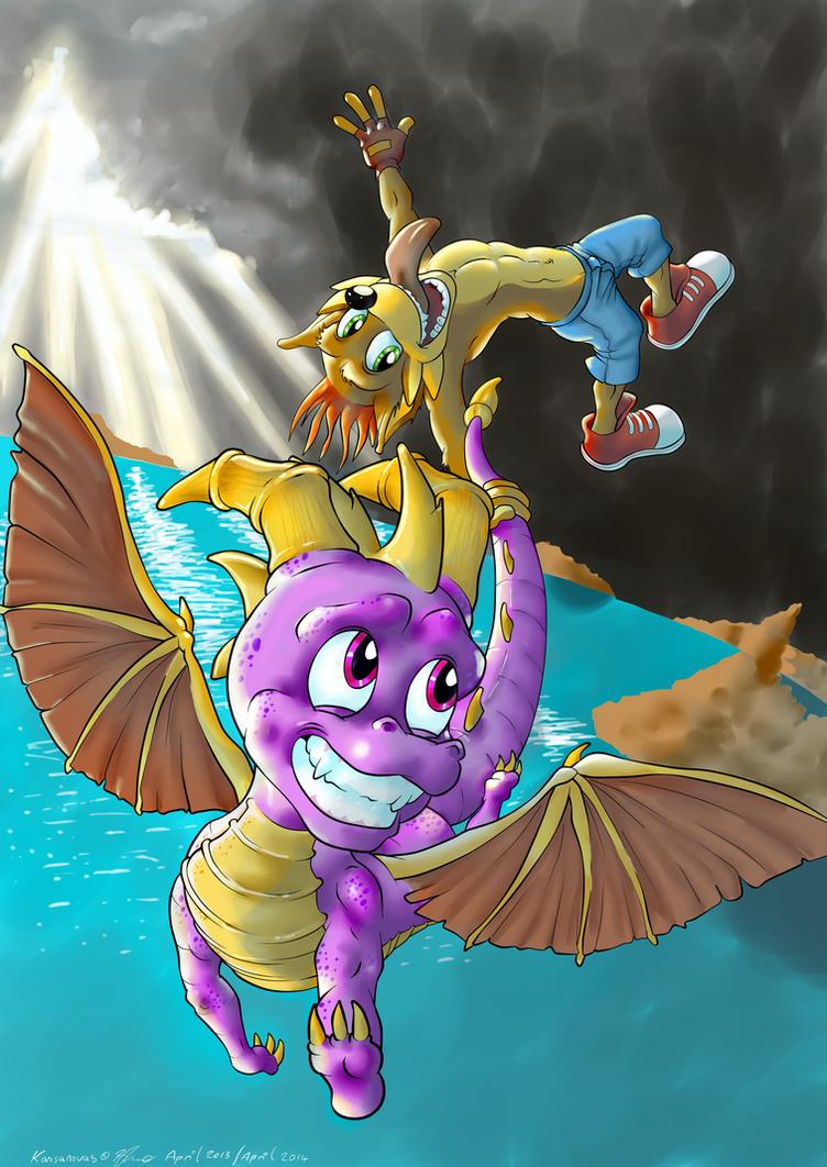 Spyro and Crash ii by Kassanovas