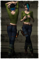 Urban Heroine for Shadowdancer by chellethecat