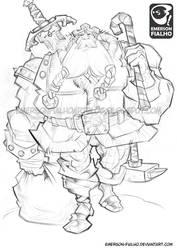 Nordic Santa Claus - sketch by Emerson-Fialho