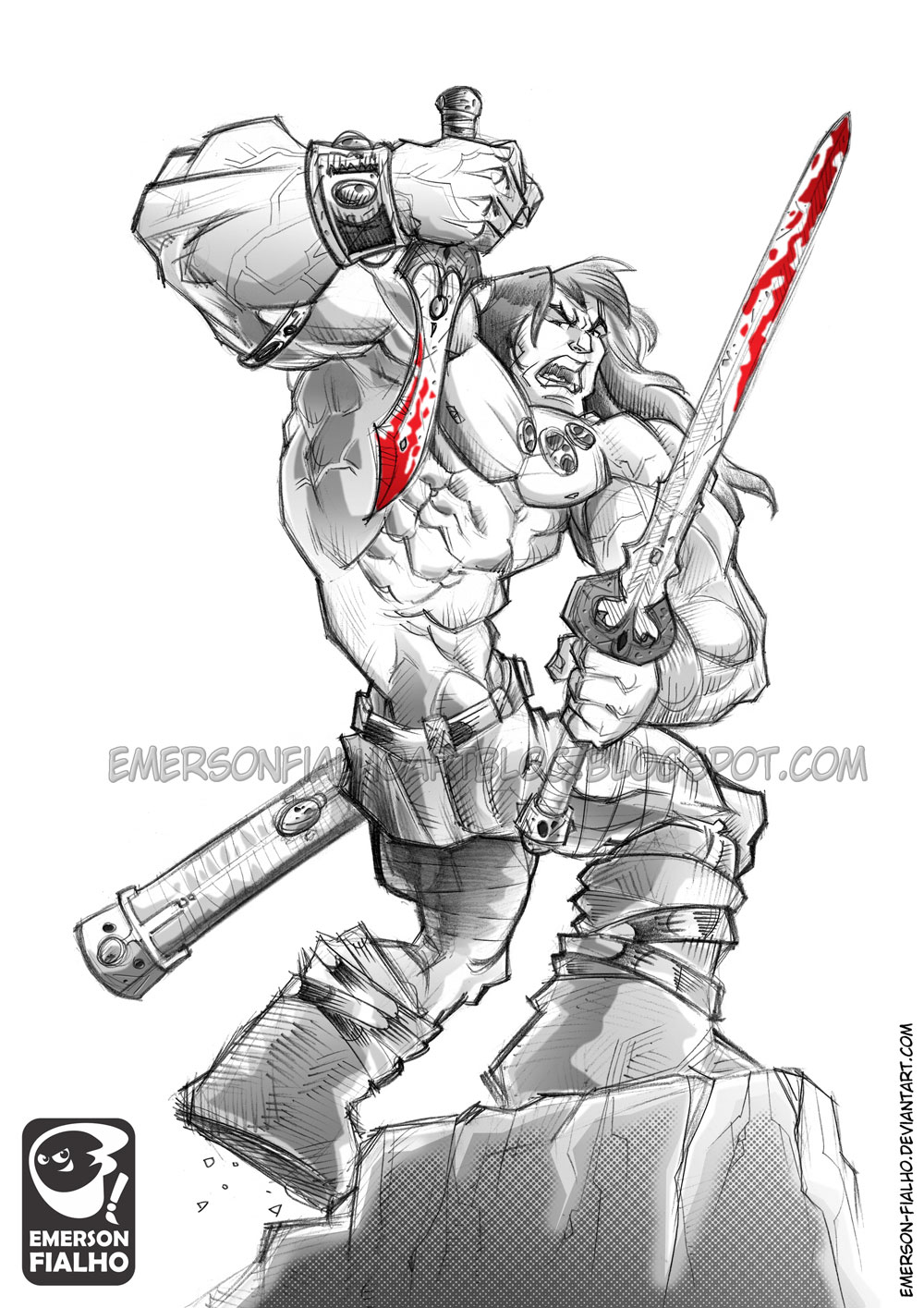 CONAN THE BARBARIAN by Emerson-Fialho