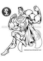 SUPERMAN - Line art