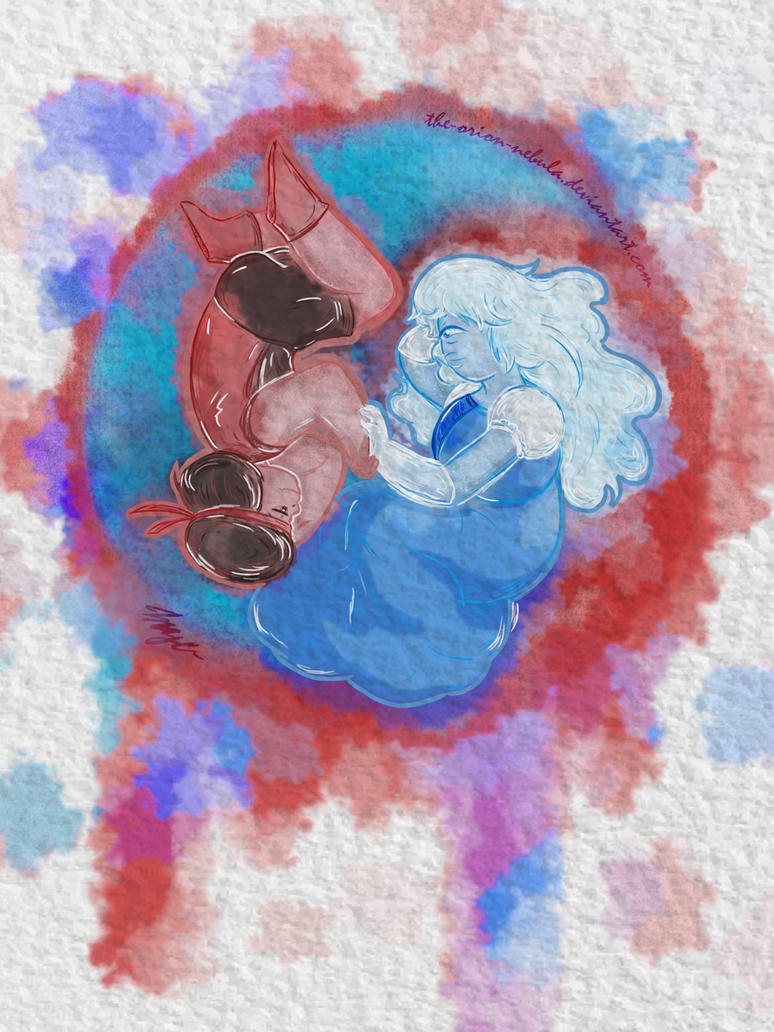 Some Rupphire art    They are really perfect for each other. Like Yin and Yang.   Steven Universe © Rebecca Sugar, Cartoon Network
