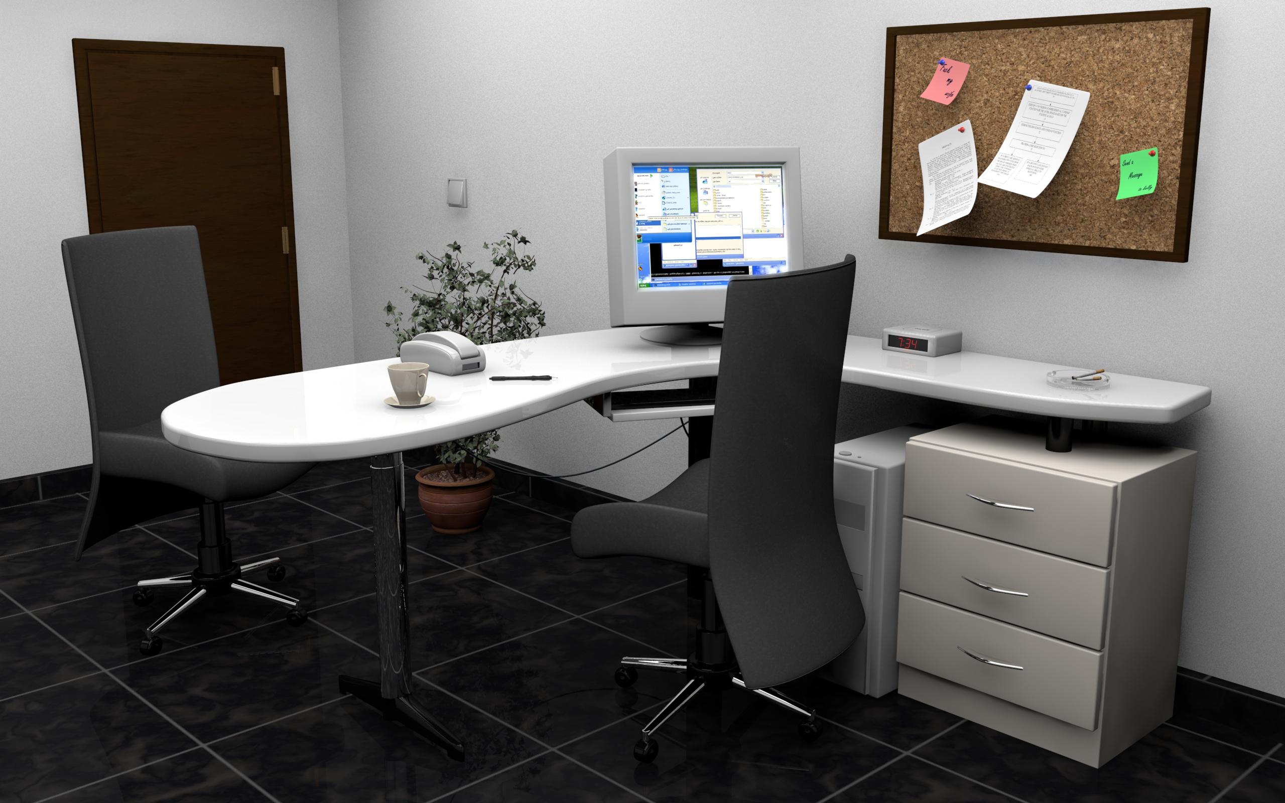 Office interior by amitwati on deviantart Computer desk interior design