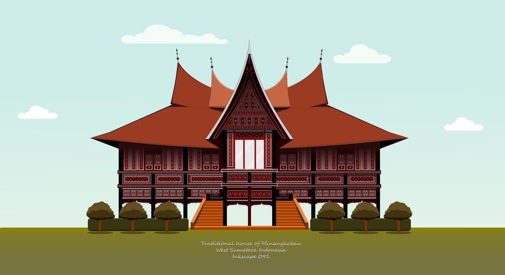 Rumah Adat Vector Rumah Zee