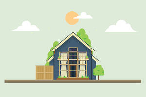 Flat Vector house by Ozantliuky
