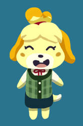 Digital Painting Test - Lineless Isabelle (edited) by Junksprite