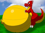 Dragon OC Belly Inflation
