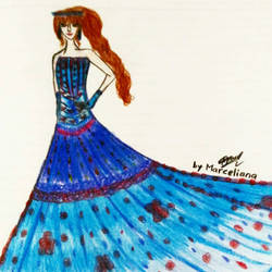 Wonderful Blue_My Design/My Imagination  by marcelianayang