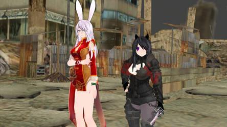 Lilith and Neko Warrior