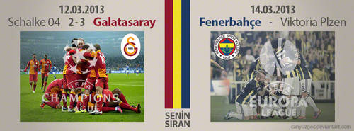 Galatasaray - Fenerbahce Uefa Cups by canyuzgec