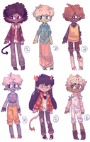 ADOPT| Monster babes (Closed) by iLee-Font