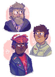 Amnesty crew sketches by iLee-Font