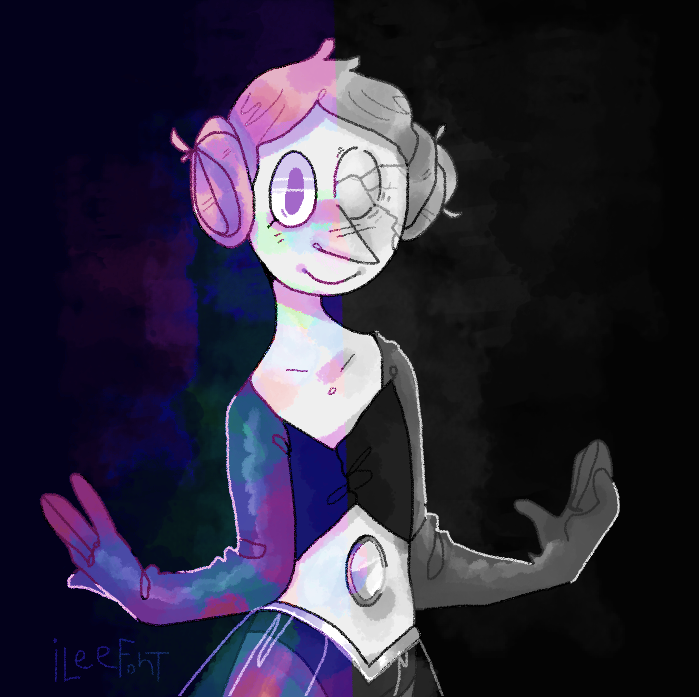 Monocrome hues aren't something I ever really work with so this was fun Art © iLee-Font White Pearl © Steven universe