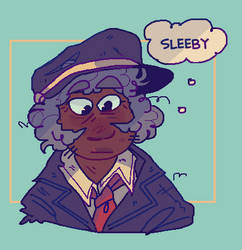 just a tired man by iLee-Font