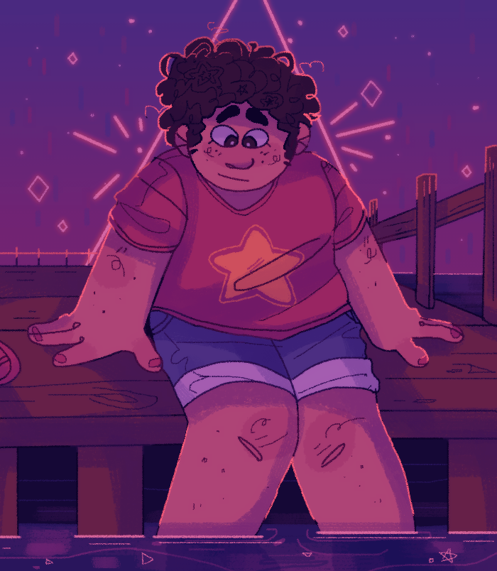 Birthday gift for my mom! I draw her steven each year ;v; Art © iLee-Font Steven © steven universe