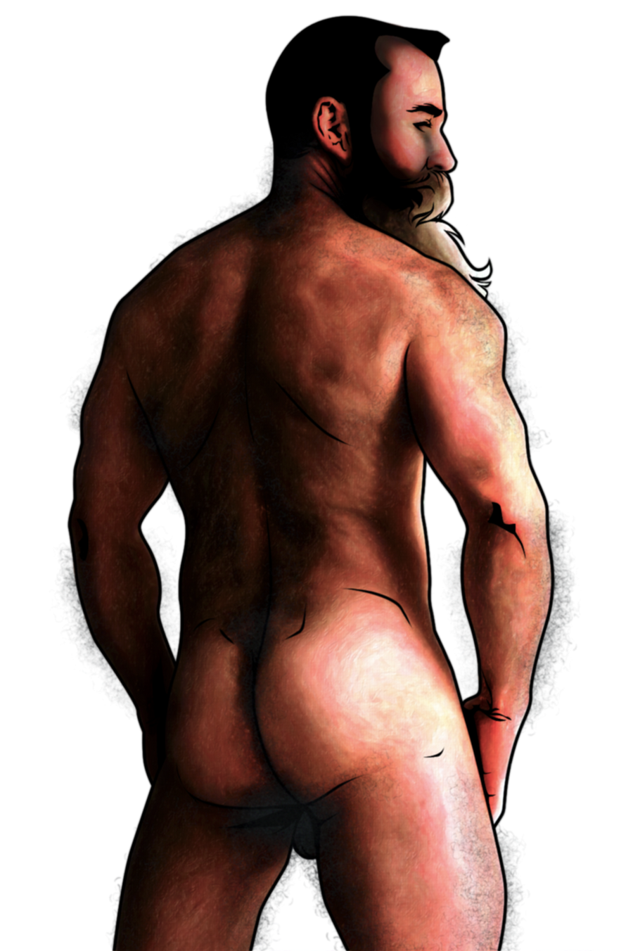 Hot bearded daddy color by Ursobaramanga
