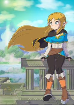 Zelda At Temple Ruins