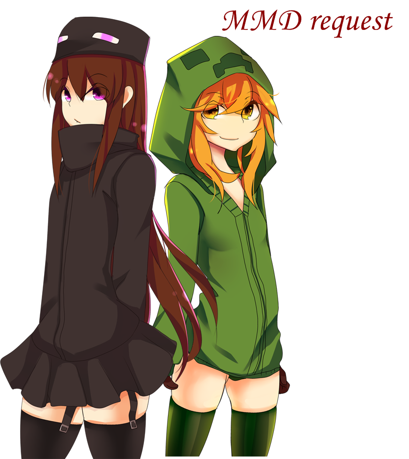 Mmd request creeper girl and endergirl by helly chan135 - Creeper anime girl ...